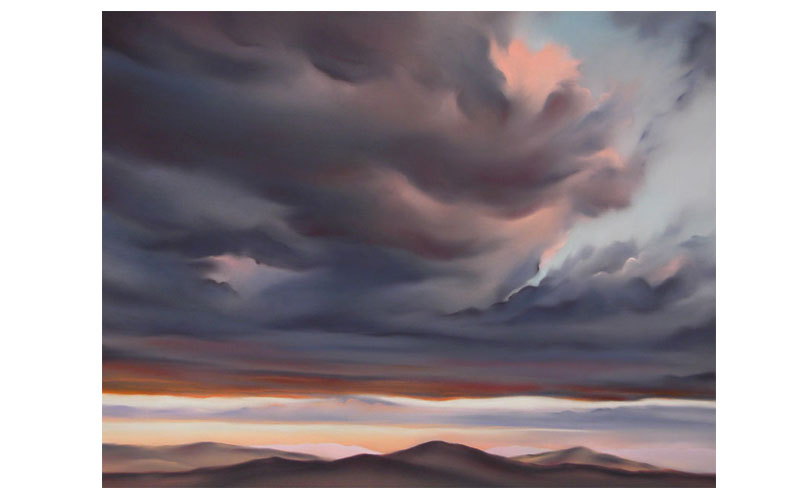 Remembering painting 'Cloud Break'